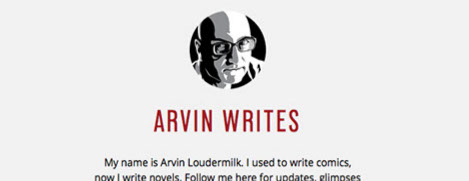Arvin Loudermilk portrait incorporated into a Tumblr blog header.